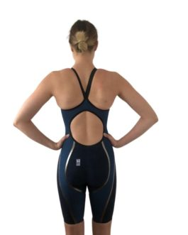 Combinaison natation Femme MÖ RIVAL 2.0 new generation dos ouvert bleue FINA approved